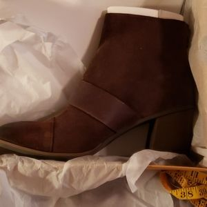 Brown KORK EASE  heeled boots size 8.5 never worn